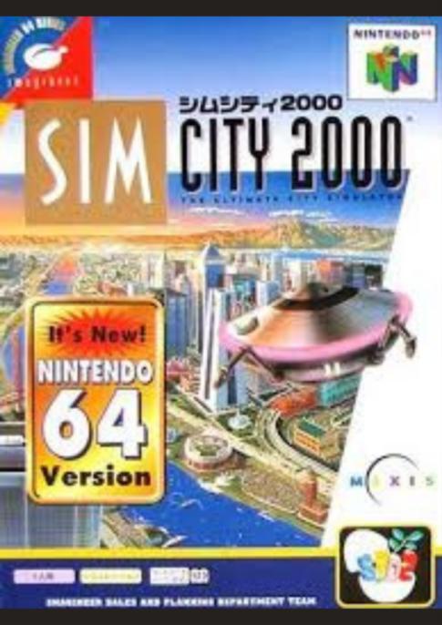 N64版『シムシティ2000』
